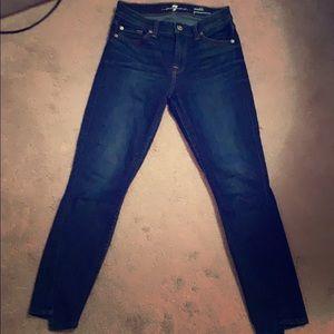 Spliced Hem Ankle skinny jeans size 26